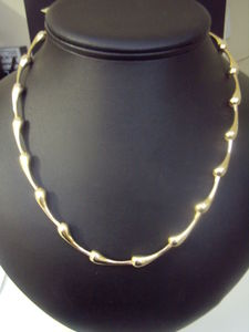 9ct Gold Teardrop Necklace