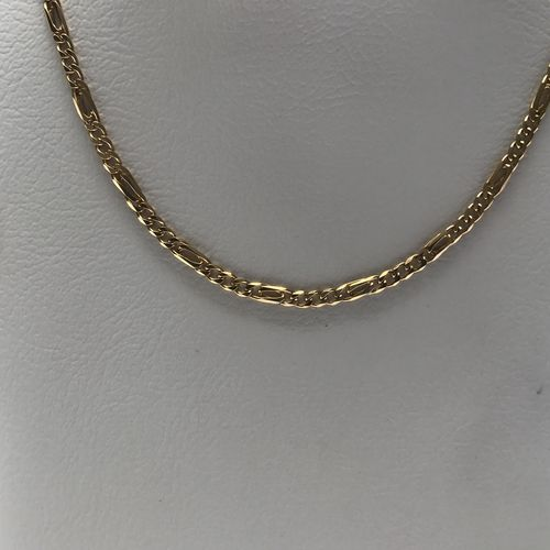 9 CARAT GOLD SOLID BIRDS EYE FIGERO CHAIN AG in Necklaces