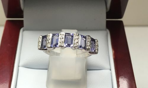 ILOLITE AND DIAMOND RING 9 CARAT GOLD DGDR2507 in GIFTS UNDER $500