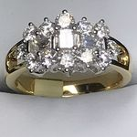 18 CARAT YELLOW GOLD DIAMOND RING 1.69 CARATS KER05200