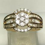 18 CARAT YELLOW GOLD DIAMOND RING 90 POINTS KRO24813