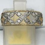 9 CARAT DIAMOND YELLOWWHITE GOLD RING DGDR2679