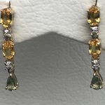 NATURAL GREEN SAPPHIRE DROP EARRINGS DGE3639